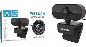 WEBCAM 2.0MP COM MICROFONE HD 1080P LEHMOX LEY-233