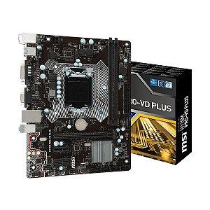 Placa-Mãe MSI H110M Pro-VH Plus Intel LGA 1151 mATX DDR4