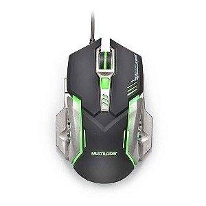 Mouse Gamer Led 7 Botões 2400 Dpi Multilaser Mo269