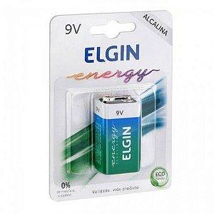 Bateria 9v Alcalina 6lr61 Elgin