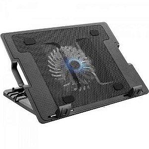 Suporte Para Notebook Com Cooler Acoplado Ac166 Preto Multil
