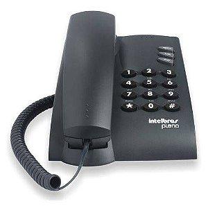 Telefone Com Fio Pleno Intelbras Preto Sem Chave De Bloqueio