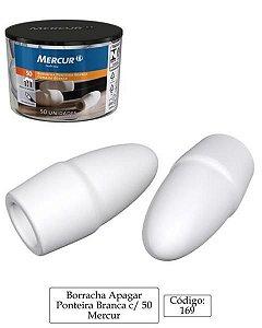 Borracha Ponteira Branca 50 P/lapis Mercur