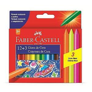 Giz de cera escolar 12 cores- Faber-Castell
