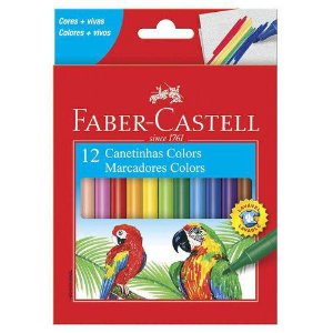 CANETINHA 12 CORES FABER CASTELL