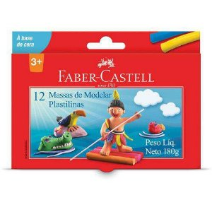 Massa Para Modelar Faber-castell Cxc/12 Cores Faber-castell