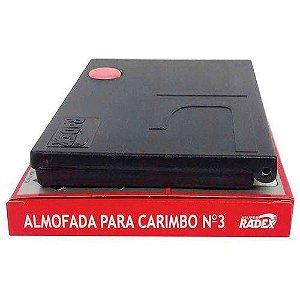 Almofada Carimbo N.3 Vermelha Radex