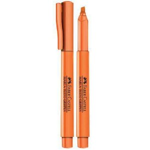 Pincel Marca Texto Grifpen Laranja 1 Unid - Faber Castell