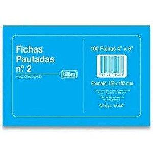 FICHA PAUTADA N2 (4X6)(151X101)(PC.100F)(TILIBRA)