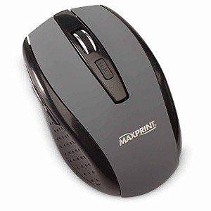 MOUSE USB S/FIO PRETO/CINZA EMBOR MAXPRINT 607612