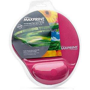 Base p/ Mouse c/ Apoio em Gel - Rosa - Maxprint