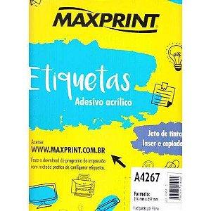 ETIQUETA ADESIVA A4 25F (210X297)(1CAR)(MAXPRINT)(493545)