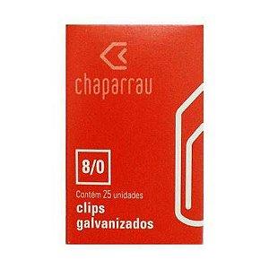 Clips Galvanizado 8/0 - Caixa Com 25 Unidades - Chaparrau