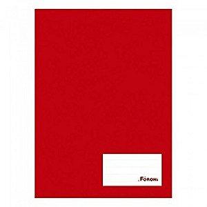 Caderno Brochura C/d 96 Folhas Costurado Vermelho Foroni