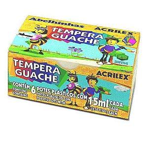Tinta Guache - Tempera Guache - 6 Cores - Acrilex