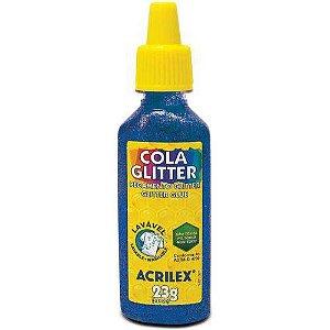 Cola Glitter Tubo 23g. Azul