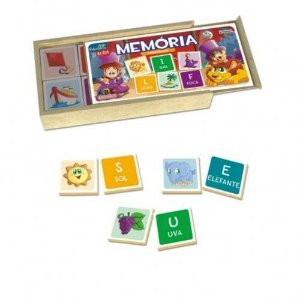 BRINQUEDO EDUCATIVO MEMORIA ALFABETIZACAO ABC BRINQUEDOS 2045