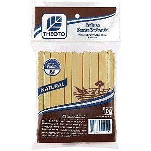 Palito De Madeira P/sorvete Ponta Redonda Theoto S/a