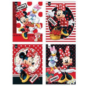 CADERNO BROCHURA CD 1/4 48F MINNIE (TILIBRA)
