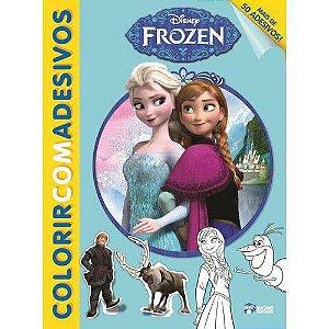 Disney colorir com adesivos - frozen