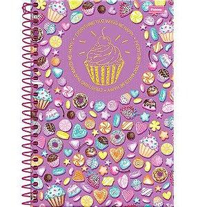 Caderno CD 1/4 96 Folhas Cupcake Foroni