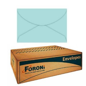 Envelope Color Plus Carta 114X162mm 80g Azul Claro