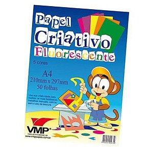 PAPEL CRIATIVO A4 (50F)(FLUORESCENTE)(ROMITEC)(4350R)