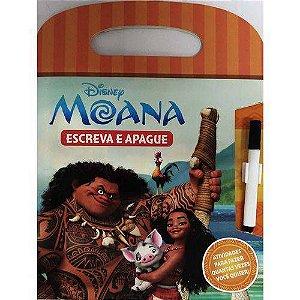 LIVRO DISNEY ESCREVA E APAGUE-MOANA(BICHO ESPERTO)