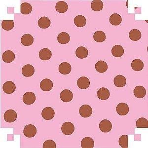 Papel Cartolina rosa C/bolinhas 150g.48x66
