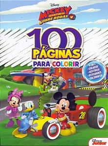 LIVRO DISNEY-100 PAGINAS PARA COLORIR MICKEY BICHO ESPERTO