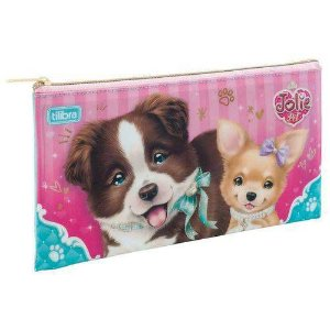 Estojo Escolar Jolie Pet Cachorro Slim 167983 ? Tilibra