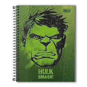 Caderno Colegial Capa Dura Hulk Smash! 10m 160 Folhas - Tilibra
