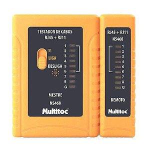 TESTADOR CABO REDE RJ11/RJ45 (MULTITOC)(NS468)