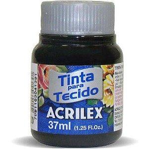 Tinta Tecido Fosca 037ml Preto Acrilex