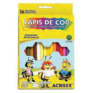 LAPIS DE COR 36 CORES (ACRILEX )
