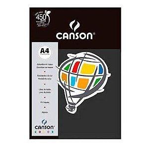 PAPEL COLOR A4 (PRETO)(PCT) (180GR)(10F)(CANSON)