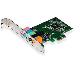 Placa De Som Pci Express High Performance 6ch 5.1 Ga140 - Multilaser