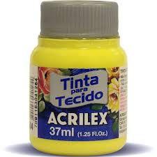 Tinta P/ Tecido Fosca  37ml. Amarelo Limao