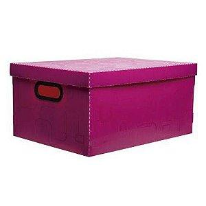 Caixa Organizadora Grande - Rosa Pink - 2172.q - Dello