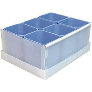 Caixa Organizadora C/06 Divisorias Azul Claro Dello