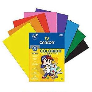 Bloco Canson Colorido Criativo 8 cores - 80g A4 - 32 folhas