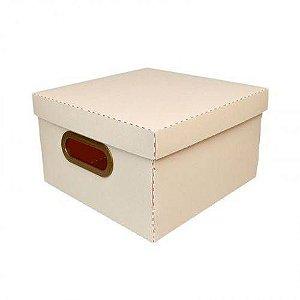 Caixa Organizadora Pequena Linho Quadrada - Rosa Pastel - 2204.w - Dello