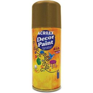 Tinta Spray Pintura Decorativa Ouro 150ml Acrilex