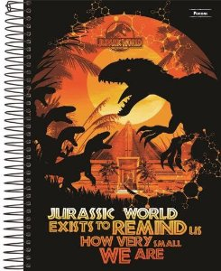 CADERNO CD UNV 10MAT JURASSIC WORLD (FORONI)