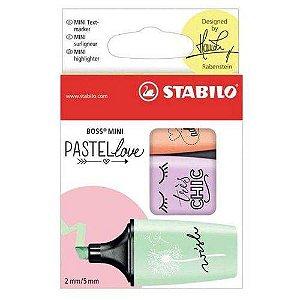 Destaca Texto Stabilo Boss Mini 07/03-57 Pastel Love - Com 3 Cores