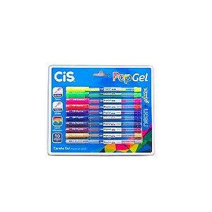 ESTOJO CANETA POP GEL NEON+GLITTER C/ 10 (CIS)54.8800