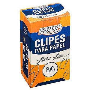 Clips Para Papel 8/0 Brw Caixa Com 170 Unidades