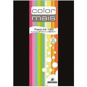 Papel A4 Color Color Mais Preto 180g. Romitec/plastpark