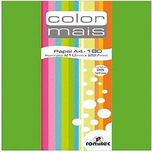 Papel A4 Color Color Mais Verde 180g. Romitec/plastpark