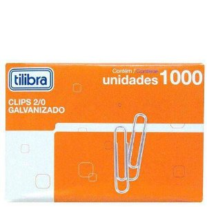 CLIPS METALICO 2/0 (CX.1000UN)(TILIBRA)